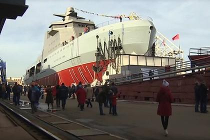 Первый российский боевой ледокол спустили на воду