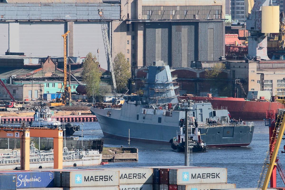 верфь спустила на воду фрегат «Адмирал Головко»