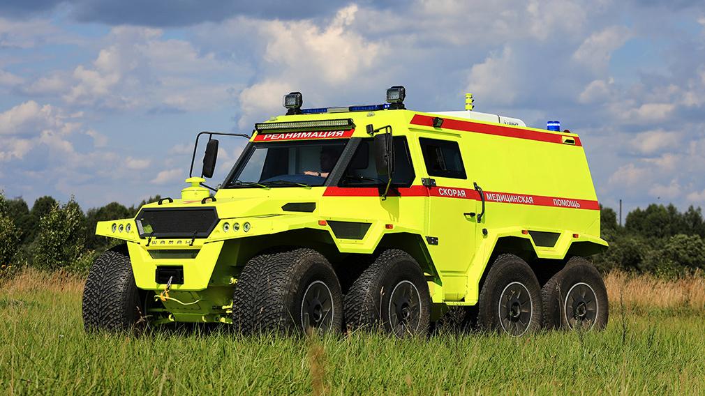 Машина скорой помощи повышенной проходимости на базе вездехода «Шаман»